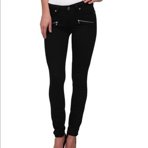 Paige Indo Zip skinny jeans size 31 black